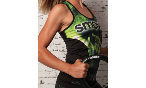 FITNESS-TOP - Green Crystal Camouflage | Damen